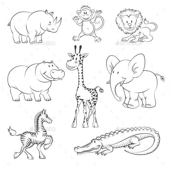Safari and Jungle Animals - Animals Characters
