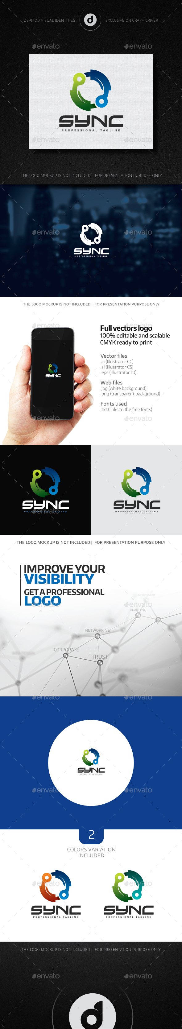 Sync Logo - Abstract Logo Templates