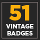 51 Vintage Badges and Logos - GraphicRiver Item for Sale