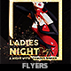 Golden Frame Ladies Night Party Flyer Template - GraphicRiver Item for Sale