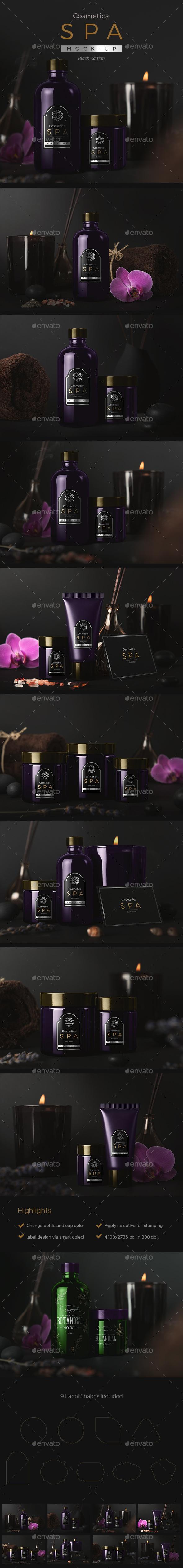SPA Cosmetics Mock-Up V.2 - Beauty Packaging