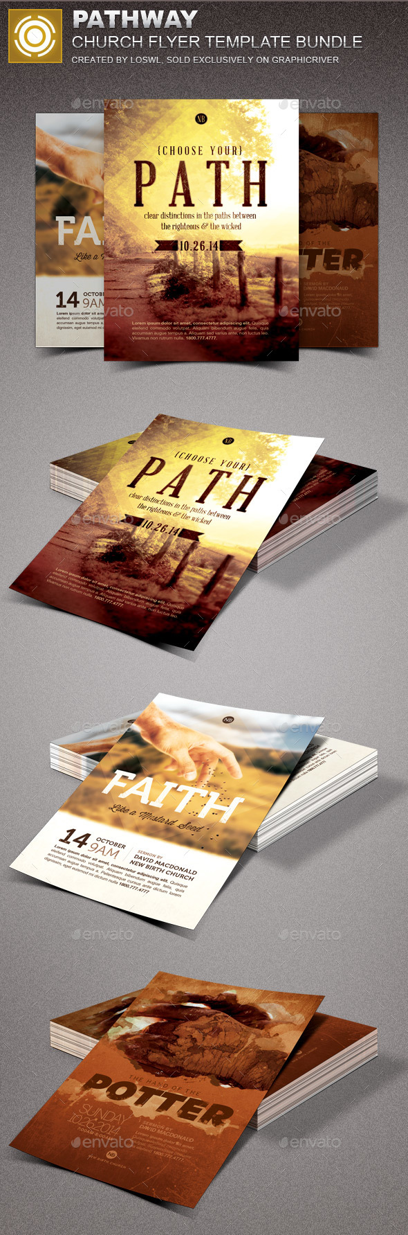 Pathway Church Marketing Flyer Bundle - Church Flyers