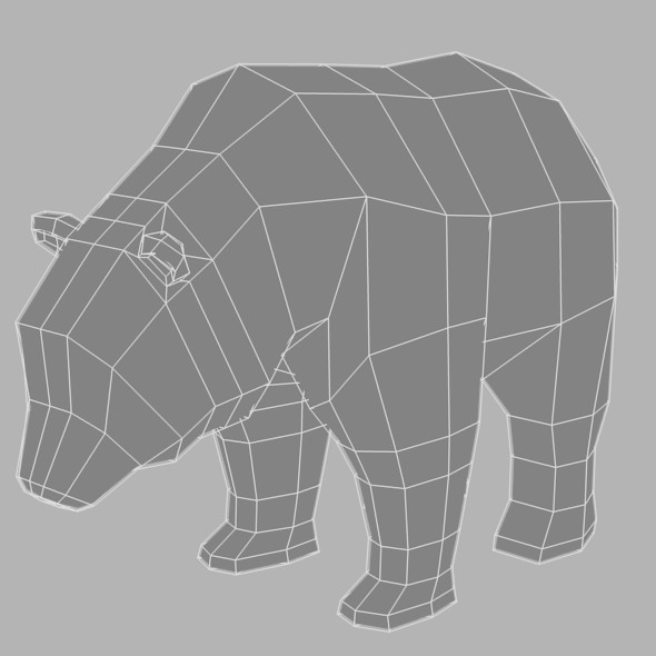 Low Poly Base Mesh Bear - 3DOcean Item for Sale