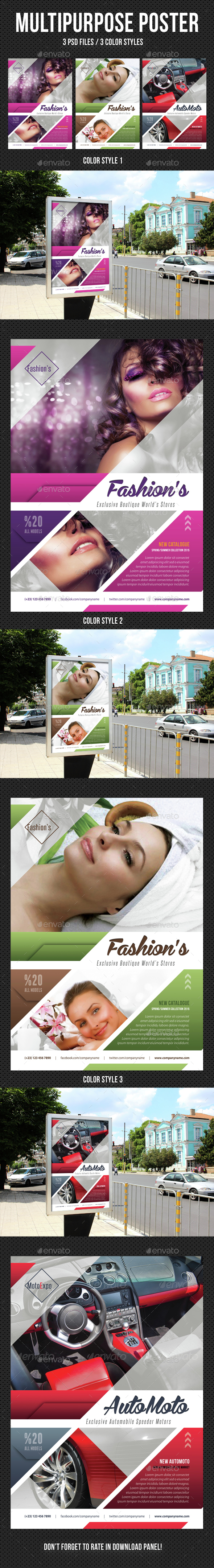 Multipurpose Flexible Poster 01 - Signage Print Templates