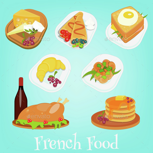French Food Set - Food Objects