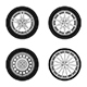 Wheels Icons Set - GraphicRiver Item for Sale