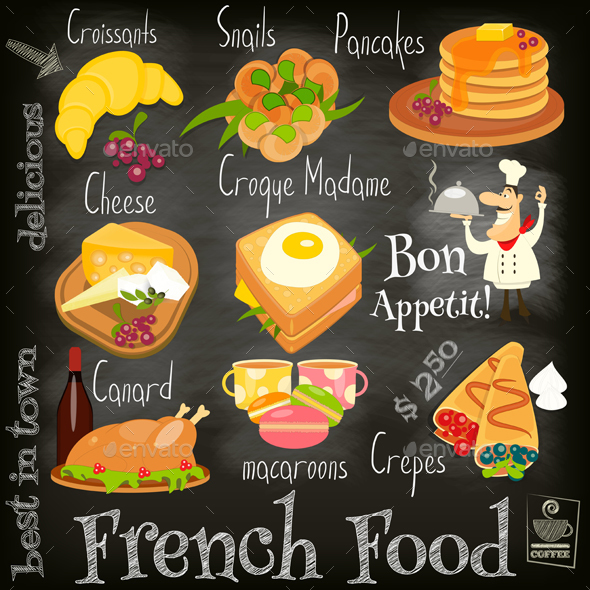 French Food Menu - Food Objects