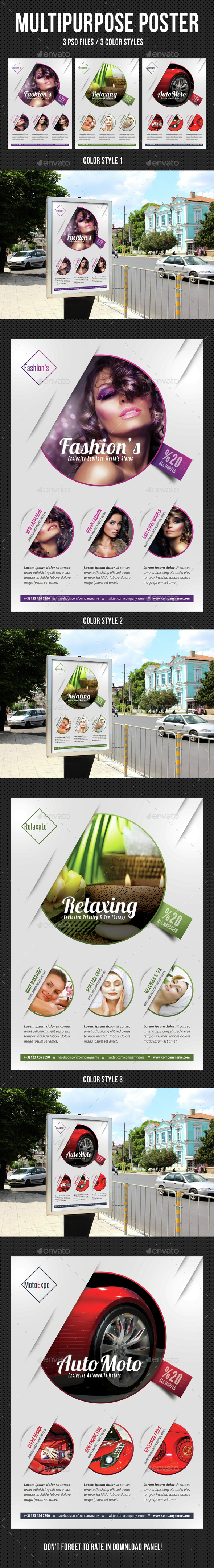 Multipurpose Flexible Poster 02 - Signage Print Templates