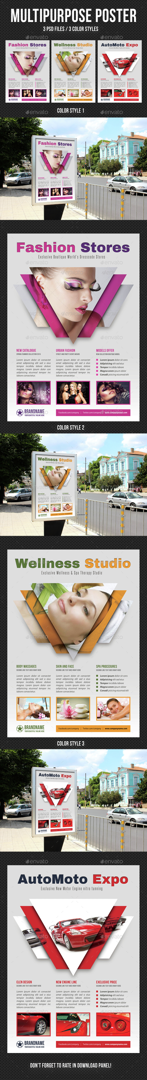 Multipurpose Flexible Poster 03 - Signage Print Templates