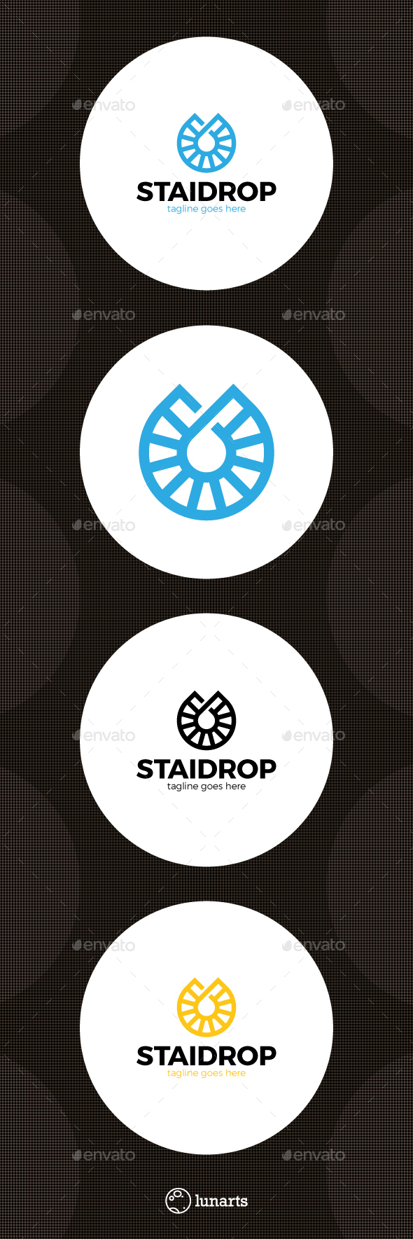 Drop Stairs Logo - Abstract Logo Templates