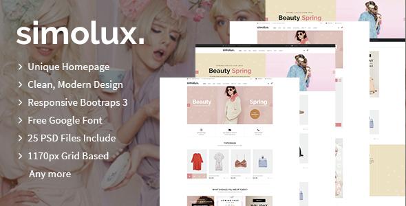 Simolux – Multipurpose eCommerce PSD Template