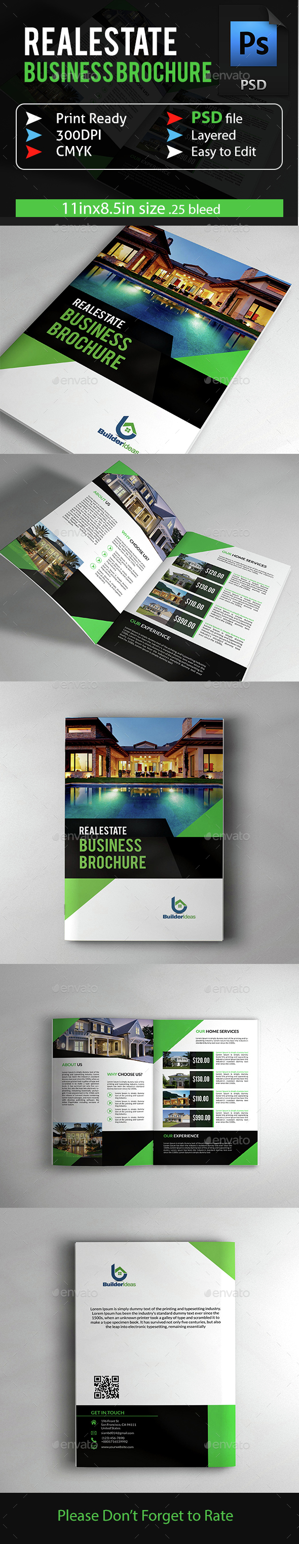 Real Estate Business Brochure - Brochures Print Templates