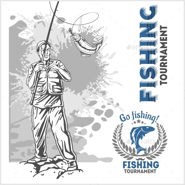 Fisherman with a Fishing Rod - Sports/Activity Conceptual