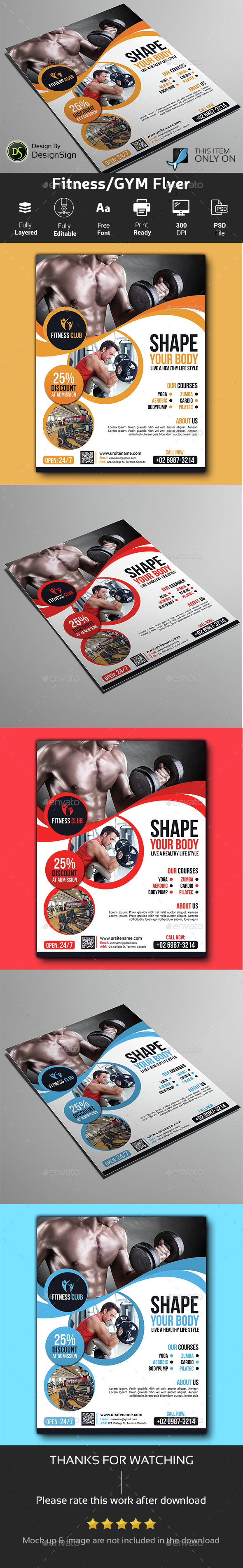 Fitness/ GYM Flyer - Sports Events