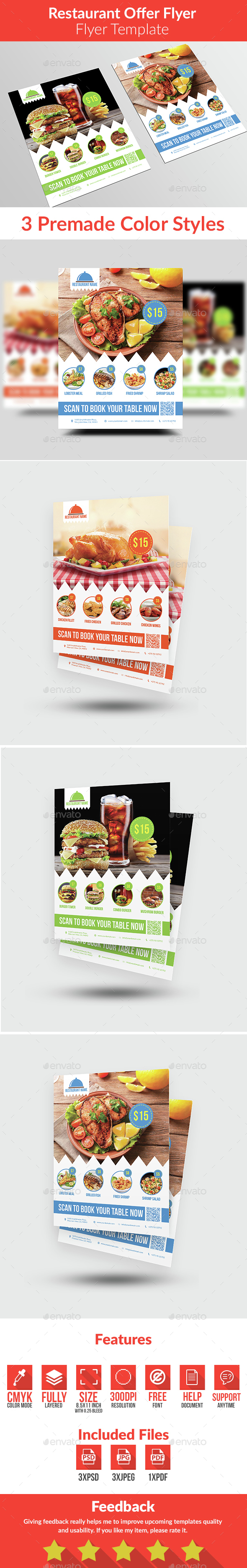 Restaurant Offer Flyer - Restaurant Flyers