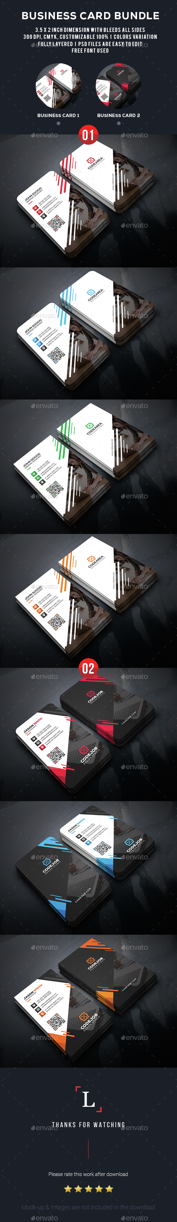 Elegant Business Card Bundle - Business Cards Print Templates