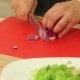 Chef Chopping Red Onion For Salad - VideoHive Item for Sale