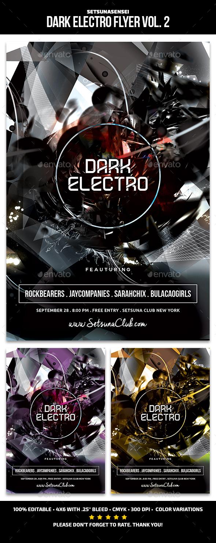 Dark Electro Flyer Vol. 2 - Clubs & Parties Events
