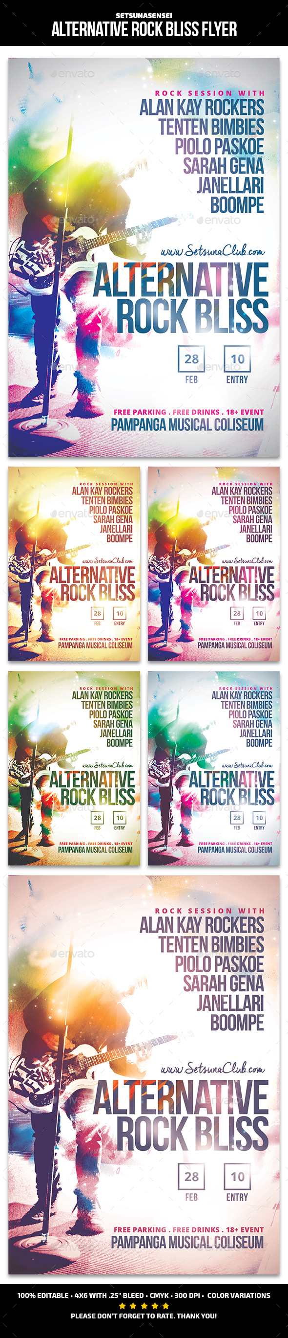 Alternative Rock Bliss Flyer - Concerts Events