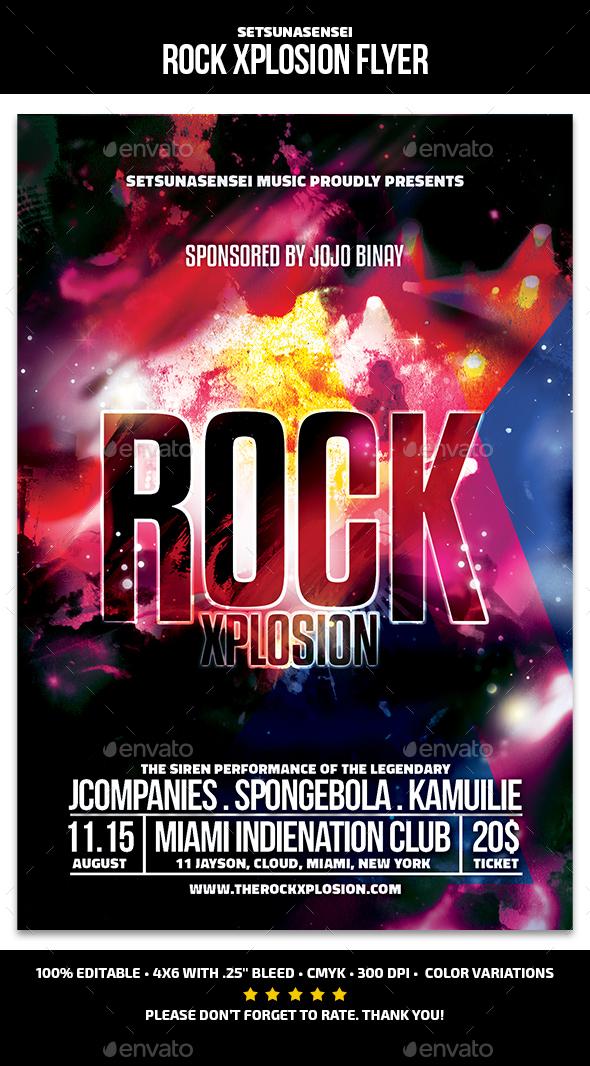 Rock Xplosion Flyer - Concerts Events