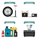 Auto Parts Flat Icons - GraphicRiver Item for Sale