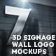 7 3d Signage Wall Logo Mockups - GraphicRiver Item for Sale