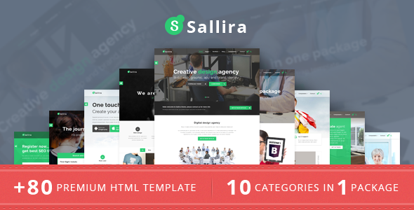 Sallira Multipurpose Startup Business Template - Corporate Site Templates