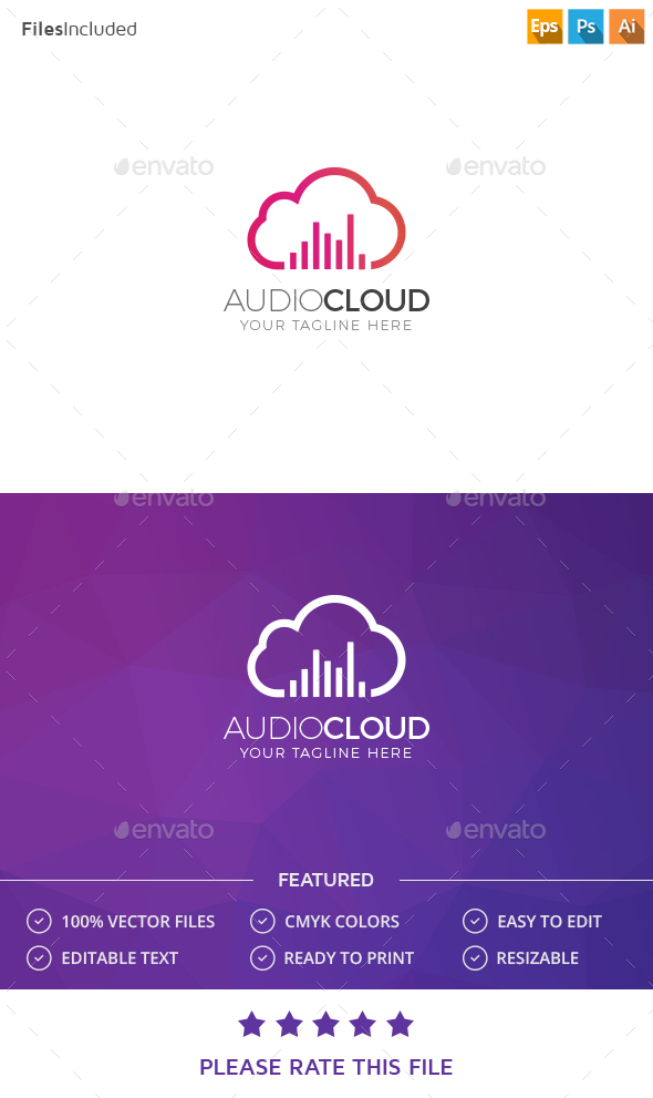 Cloud Logo - Nature Logo Templates