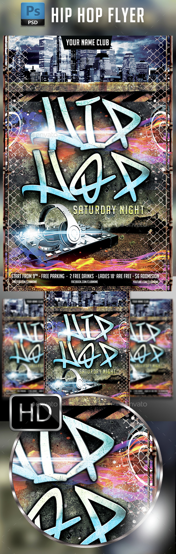 Hip Hop Flyer Template #4 - Events Flyers