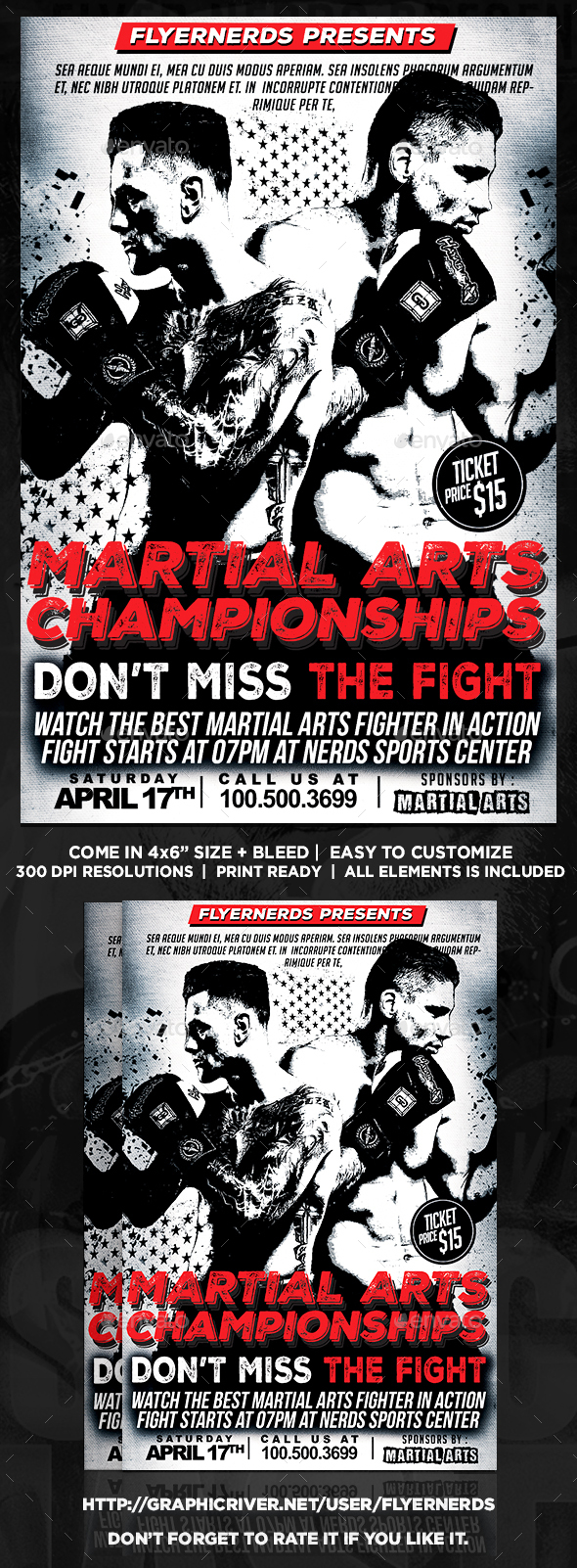 Martial Arts Championship Sports Flyer - Sports Events