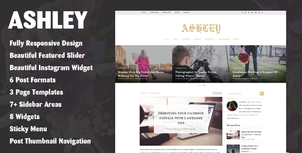 Ashley – A WordPress Blog Theme