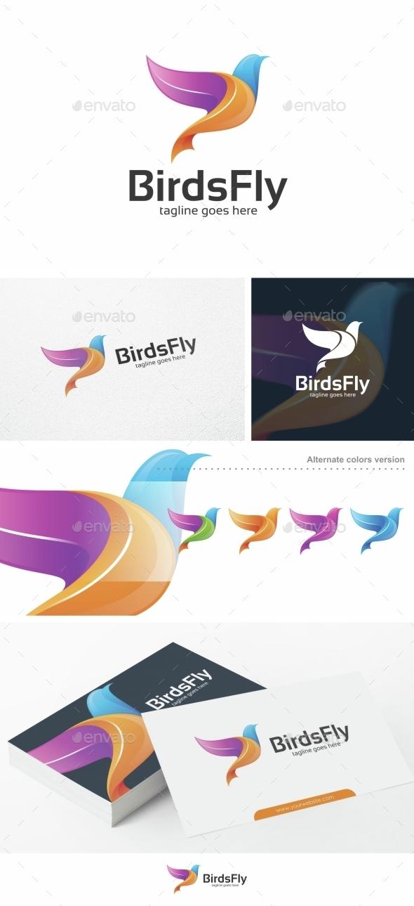 Birds Fly - Logo Template - Animals Logo Templates