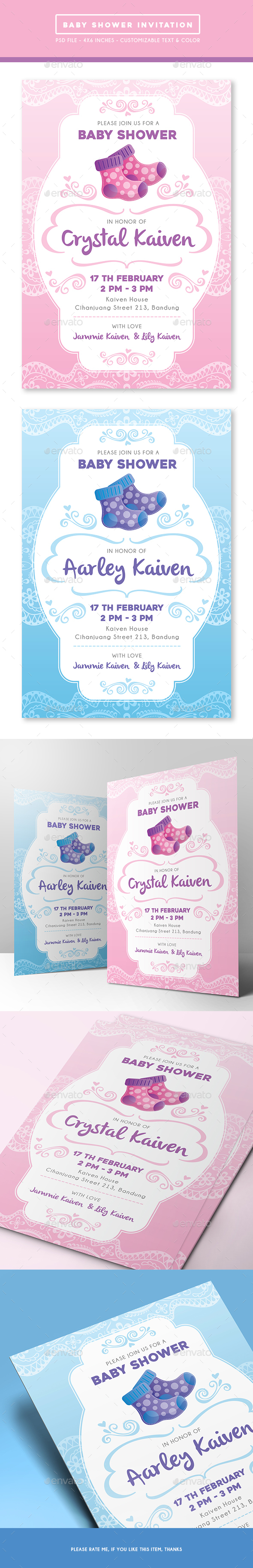 Baby Shower Invitation - Invitations Cards & Invites