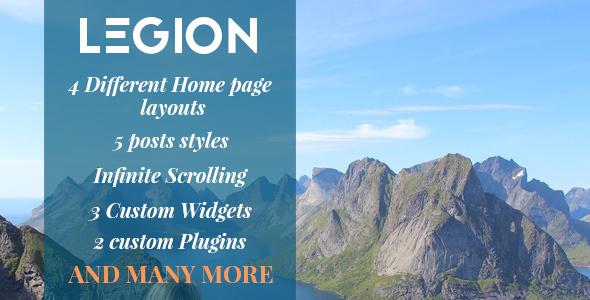 Legion - A Multipurpose Responsive WordPress Blog Theme