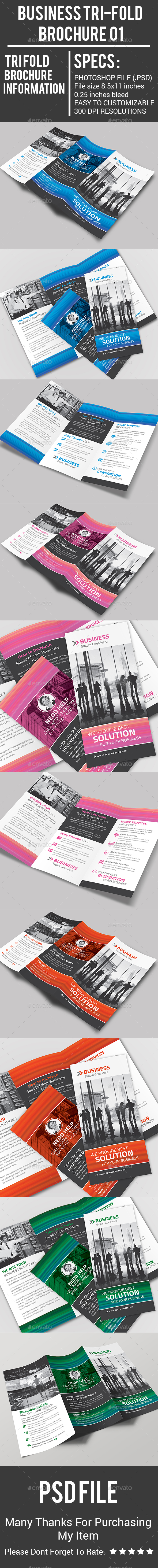 Business Tri-Fold Brochure 01 - Corporate Brochures
