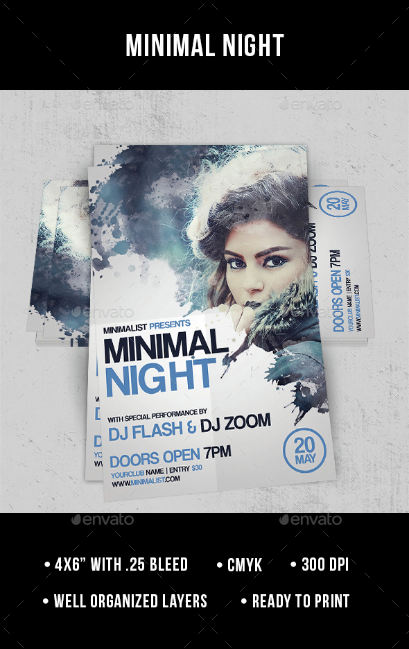 Minimal Night - Flyer - Clubs & Parties Events