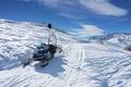 snow path on ski resort in mountain, Alpe di Mera, Italy - PhotoDune Item for Sale