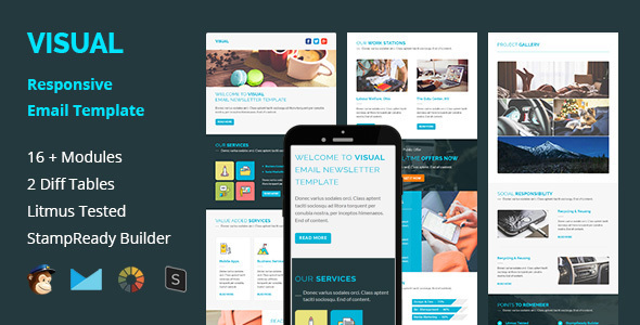 Visual - Multipurpose Responsive Email Template - Email Templates Marketing