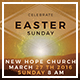 Easter Sunday Flyer Template - GraphicRiver Item for Sale