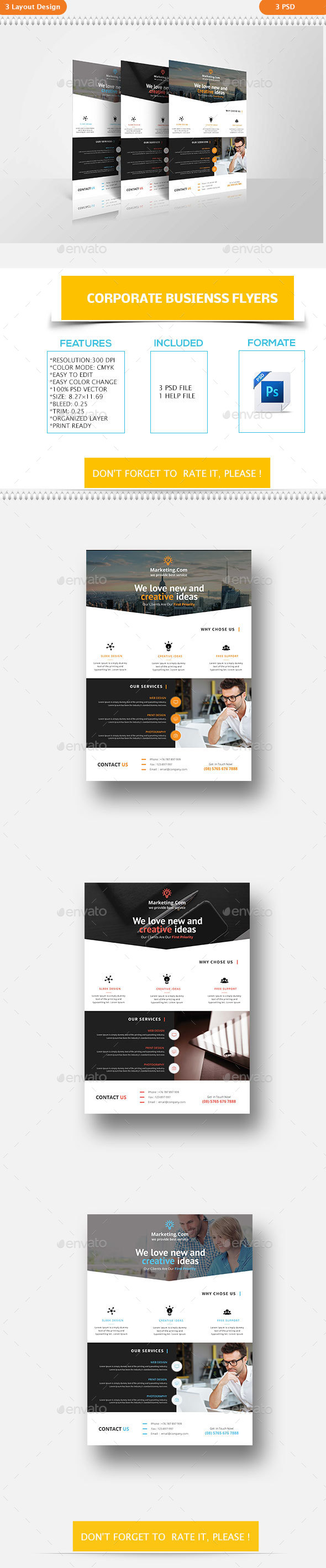 Corporate Business Flyers - Flyers Print Templates