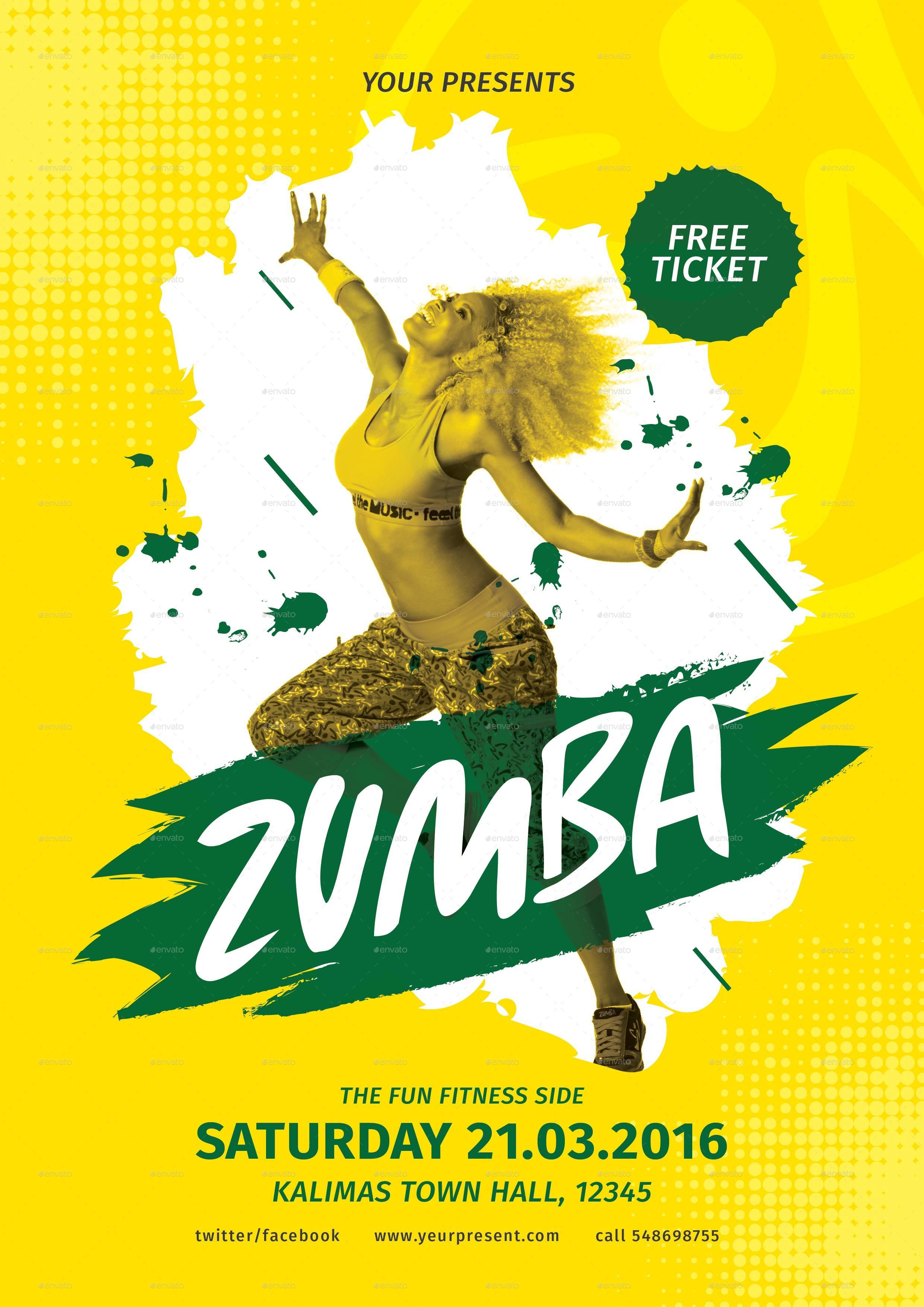 Zumba party flyer by lilynthesweetpea graphicriver zumba party flyer stopboris Image collections