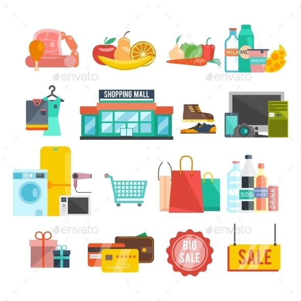 Shopping Center Icons - Retail Commercial / Shopping
