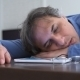 Man Fell Asleep On The Job At Table. - VideoHive Item for Sale
