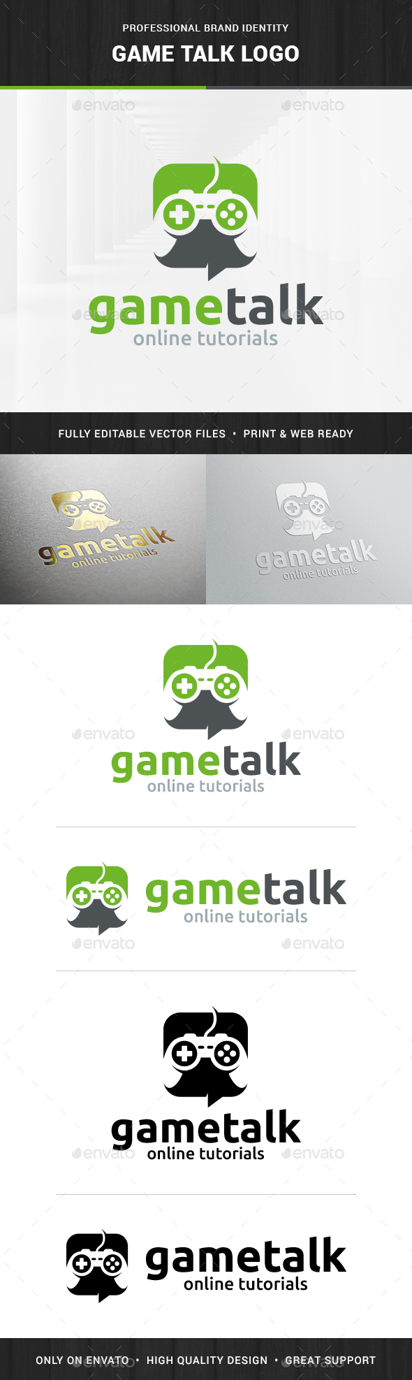 Game Talk Logo Template - Objects Logo Templates