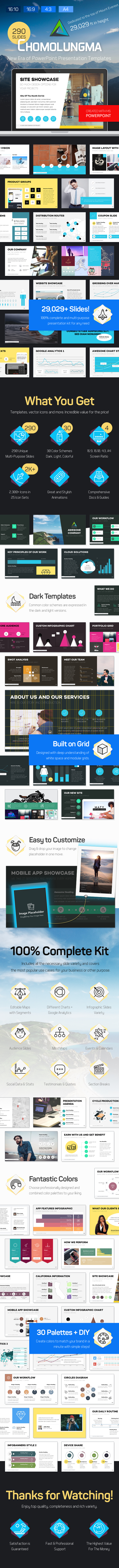 Chomolungma — PowerPoint Presentation Template Kit - Business PowerPoint Templates