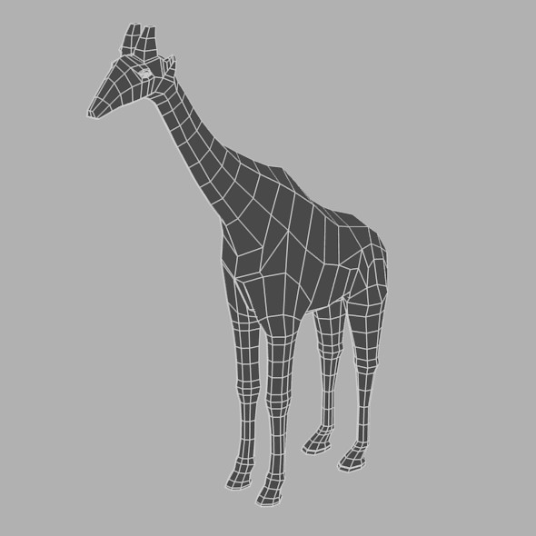 Low Poly Base Mesh Giraffe - 3DOcean Item for Sale