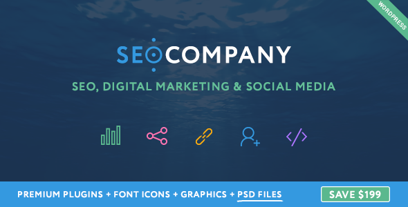 Seo Company – Digital Marketing & Social Media WordPress Theme