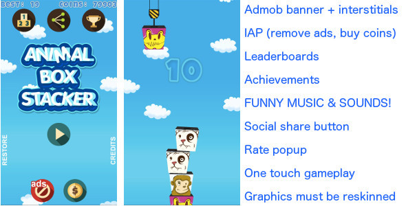 Tower Build FUNNY! + Admob + IAP + more!! - CodeCanyon Item for Sale