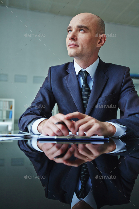 Pensive man - Stock Photo - Images
