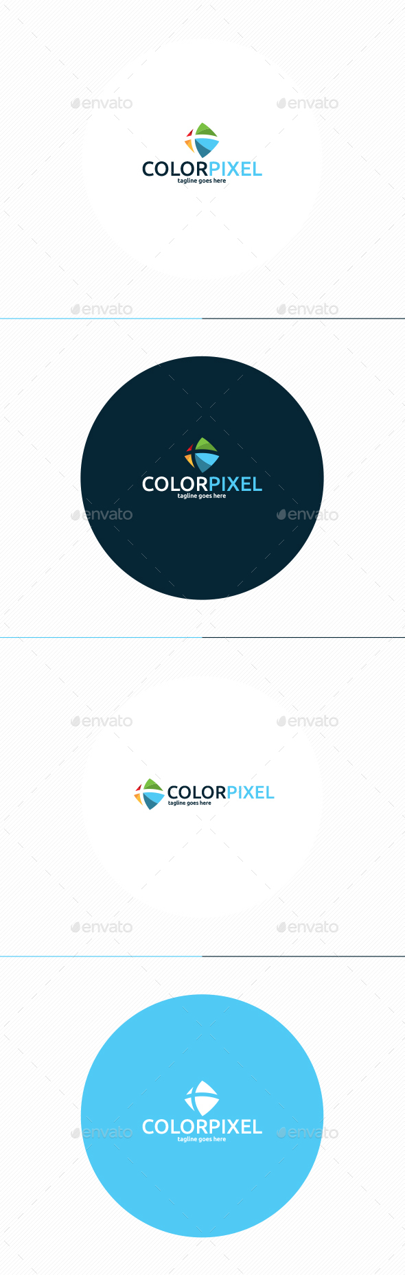 Color Pixel Logo - Vector Abstract